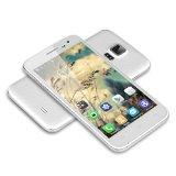 BUON REGALO ECONOMICO 5'' DOOGEE VOYAGER2 DG310 Dual Flashlights IPS Screen 3G Smartphone Android 4.4 MTK6582 1.3GHz Quad Core Telefono Cellulare Dual SIM 1G RAM 8G ROM OTG OTA GPS WIFI, BIANCO