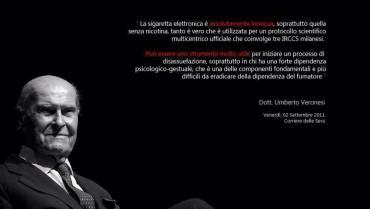 Veronesi: «Sì alla sigaretta elettronica, vi spiego perché»
